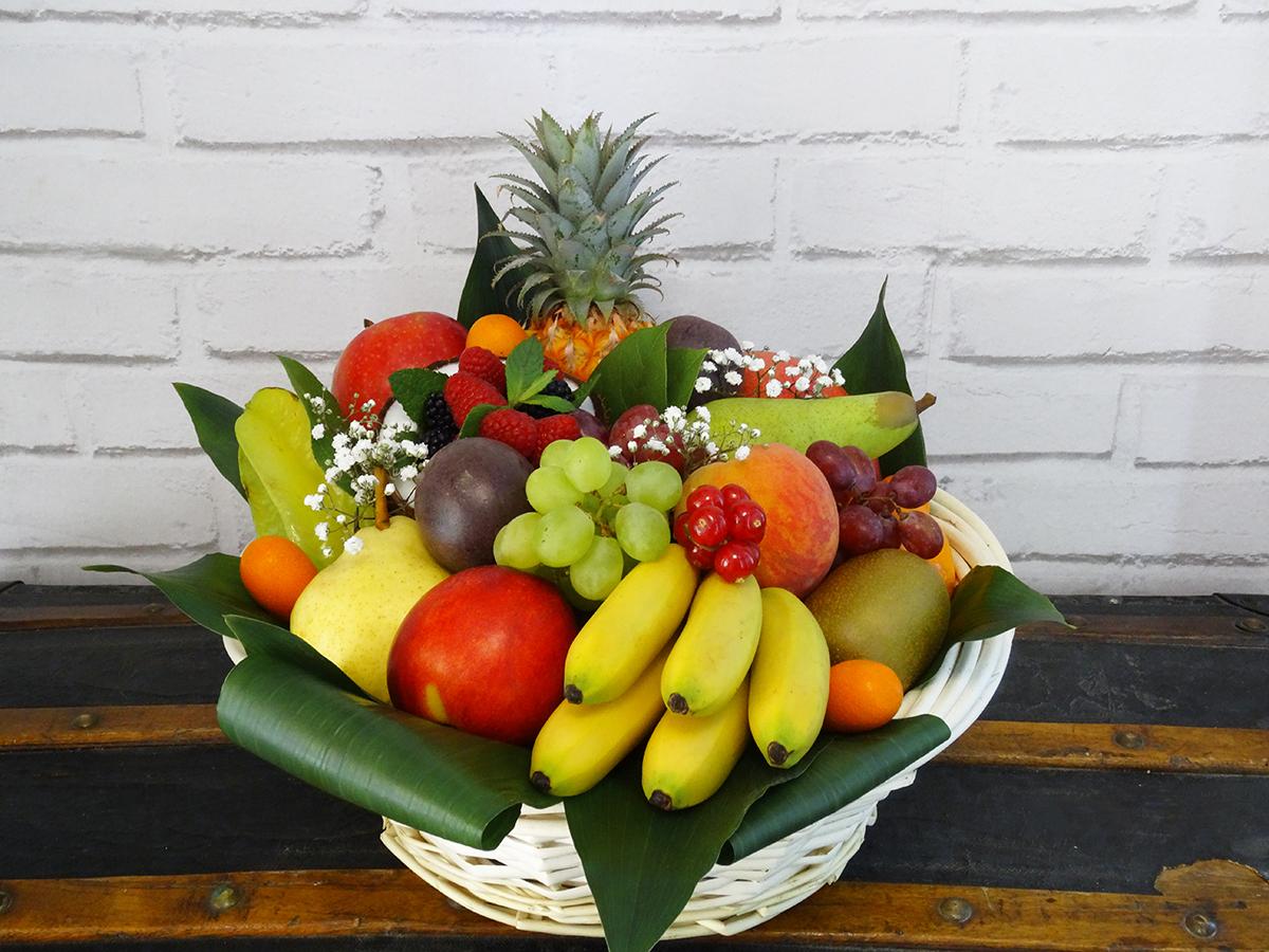 Corbeille de fruits exotique & saison 3 kilos