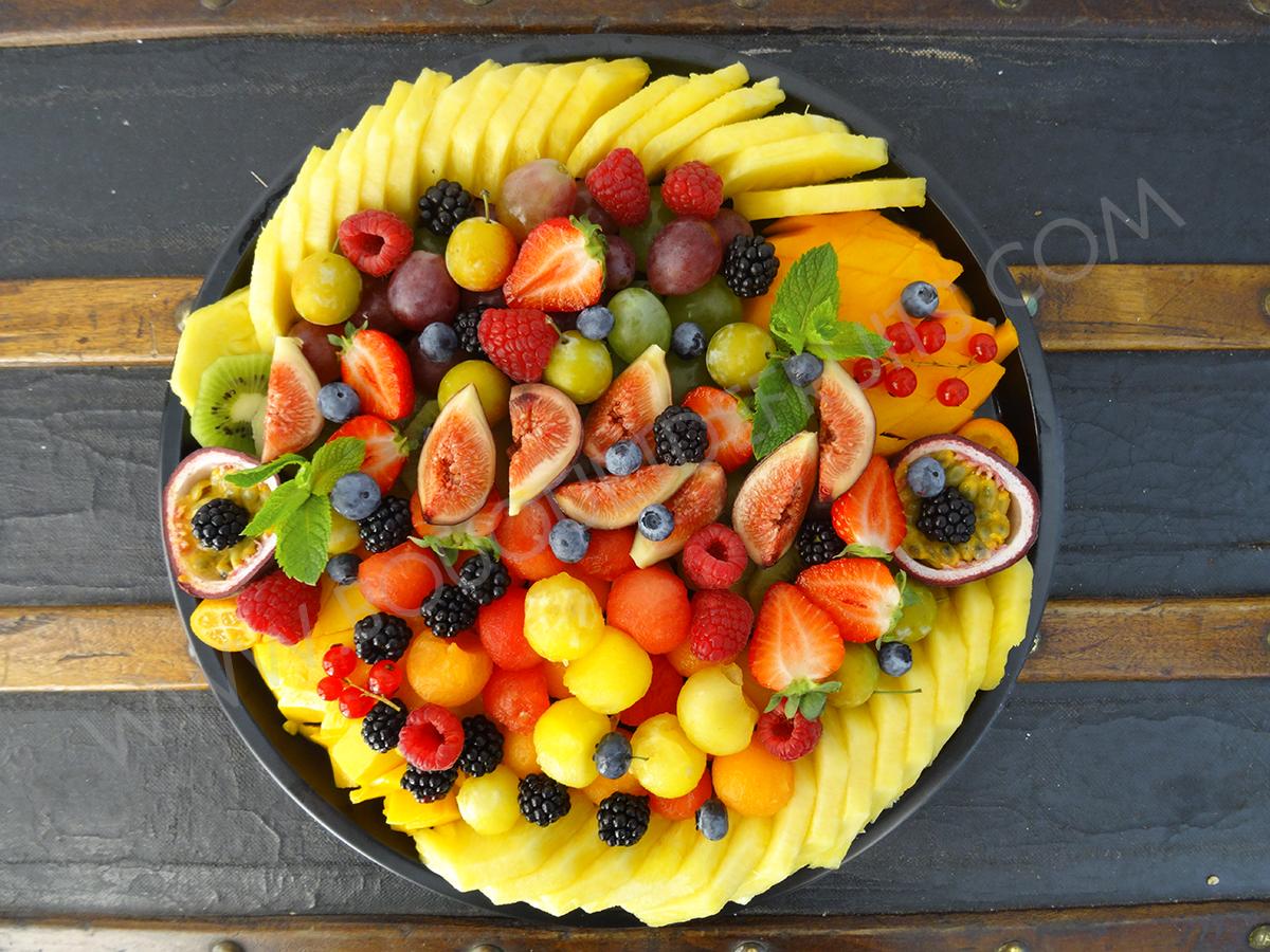 Plateau de fruits tranchés - Grand
