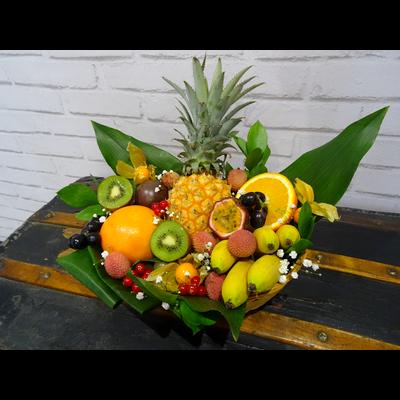 Corbeille de fruits exotique & saison 2 kilos