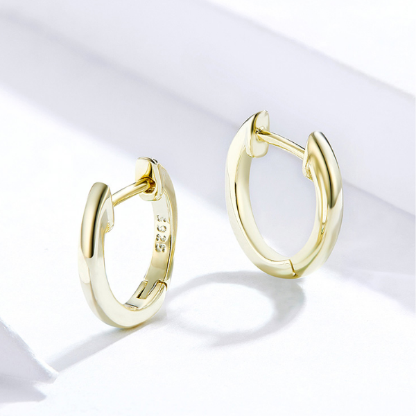 Les Boucles d\'oreilles mini argent plaqué or