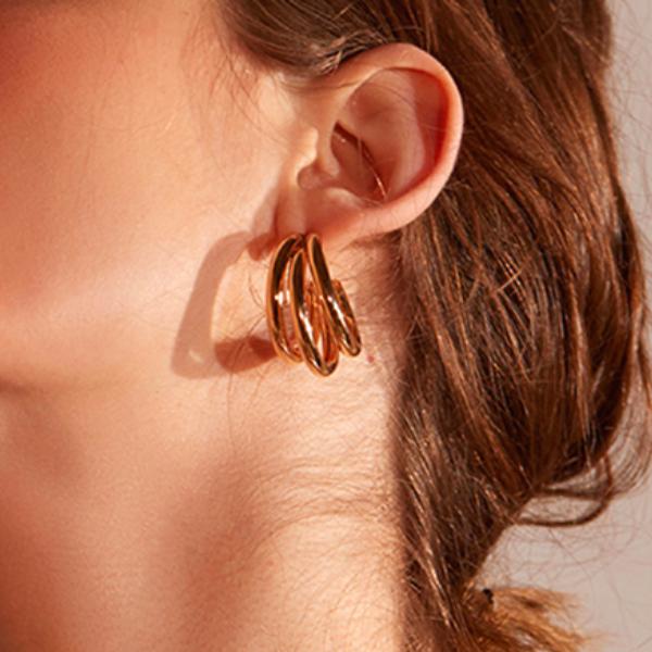 Les Boucles d\'oreilles triples Beaugrenelle