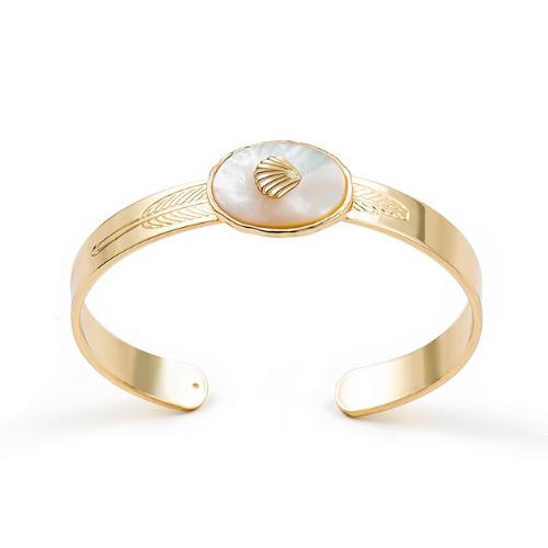 Bracelet jonc doré coquillage Trocadéro