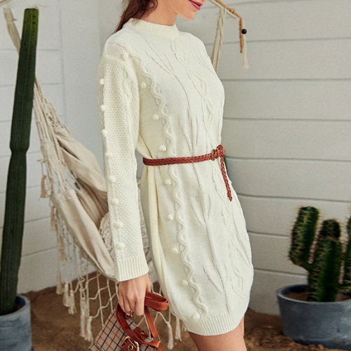 La Robe pull blanche Montorgueil