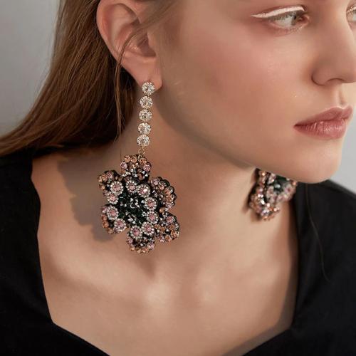 Boucles d\'oreilles pendantes retro colorées Montmartre