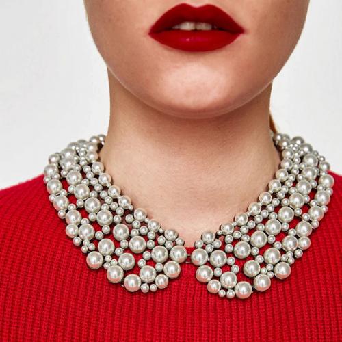 collier chocker perles fantaisie col claudine bijou femme en ligne