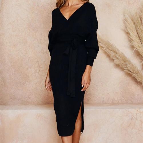 robe portefeuille midi noire mode femme hiver en ligne la selection parisienne
