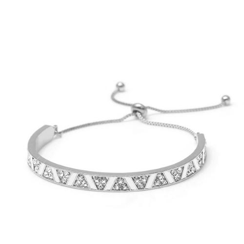 Bracelet réglable acier & strass Trocadéro