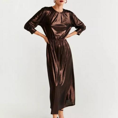 La Robe longue or métallique Montmartre