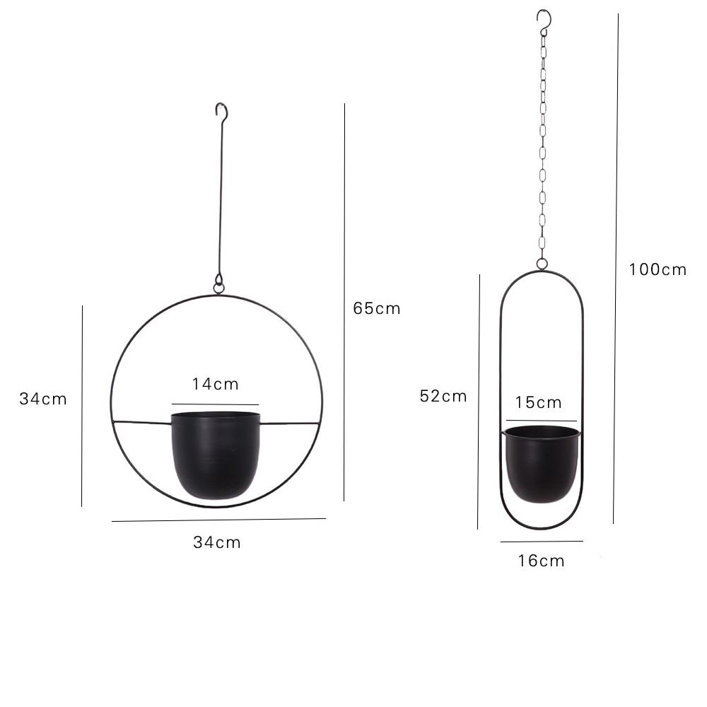 Pot à plante suspendu en métal