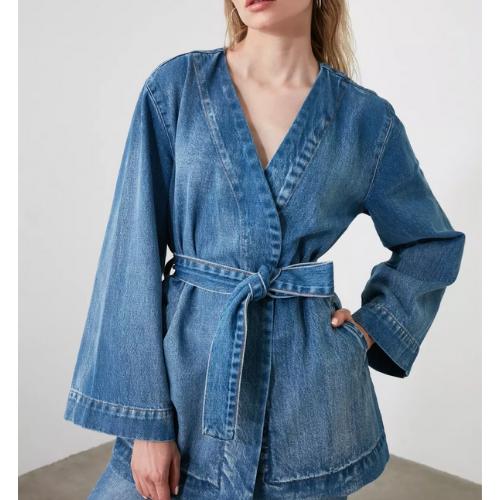Veste en jean croisée Montsouris