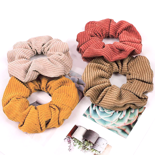 Scrunchie velours cotelé