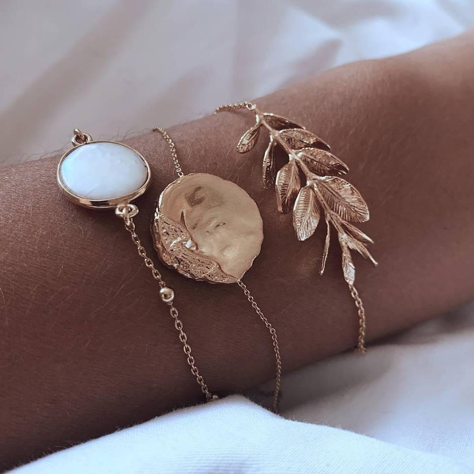 Le Trio de bracelets dorés St Germain des Prés