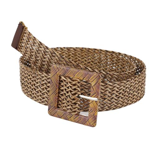 La ceinture tressée carrée Deauville