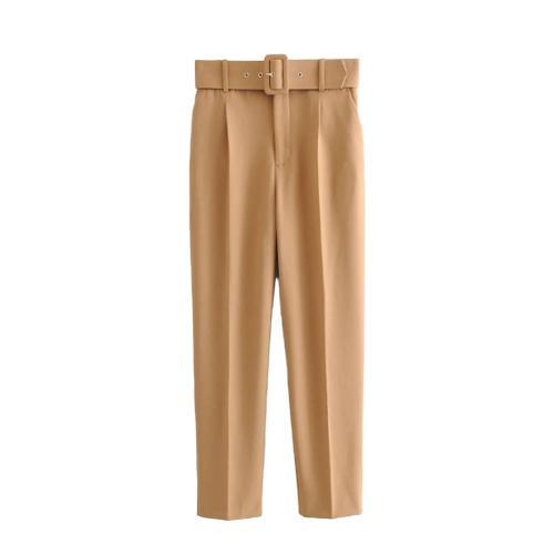 Le Pantalon taille haute à ceinture Auteuil