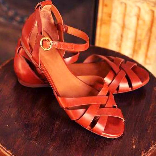 Les sandales plates Montsouris