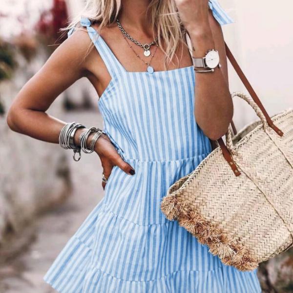 La petite robe rayée Montsouris