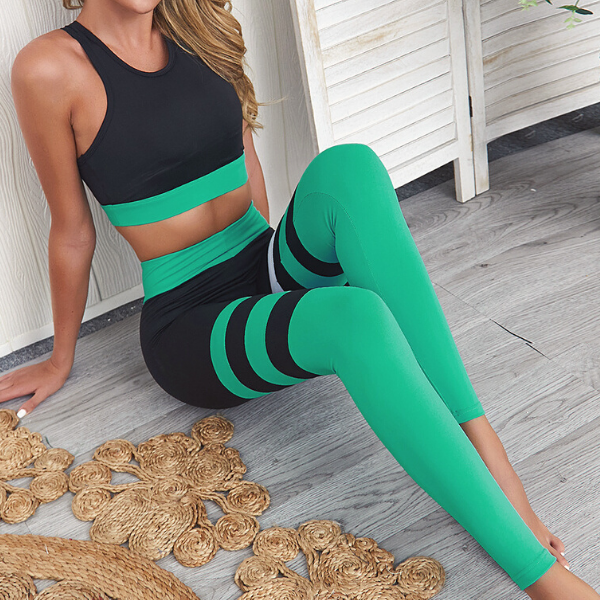 Tenue de Yoga bicolore