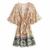 mini robe imprimée fleurie femme
