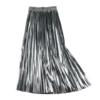 jupe plissée métallisée grise la selection parisienne mode femme