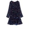 robe bleue imprimée coeurs courte à manches longues pour femme mode automne hiver en ligne 2