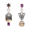 boucles d'oreilles pendantes multicolores montmartre chic soirée femme 1