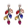 boucles d'oreilles fantaisie pendantes colorées chic femme pas cher en ligne strass