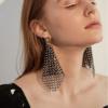 boucles d'oreilles fantaisies pendantes noires à strass cristal retro chic en ligne pas chères pour femme eshop bijoux