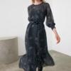 robe midi imprimée python femme hiver vetement tendance la selection parisienne
