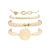 Docona-Boho-Coeur-Orange-Perles-Bracelet-Ensemble-pour-Les-Femmes-Cha-nes-De-Fleurs-R-glable