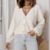 cardigan blanc mohair femme gilet hiver vetement pas cher tendance en ligne 4