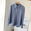 MD-Vintage-solide-Satin-soie-chemise-Blouse-femmes-mode-manches-longues-chemises-dames-l-gant-bureau