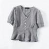 blouse imprimée vichy carreaux tendance femme collection mode 2021