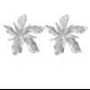 Boucles d'oreilles grande fleur argentées St Germain