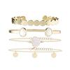 Multi bracelets fantaisie dorés blanc coquillage bijoux été femme 1