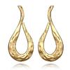 Boucles d'oreilles fantaisies dorées pendantes longues torsade