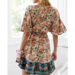 robe mini imprimée boho 3