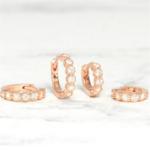 petites boucles doreilles rose gold zirconium bijoux femme petit prix la selection parisienne