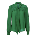 Blouse verte à noeud femme la selection parisienne automne 2020