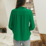 Blouse verte à noeud femme la selection parisienne en ligne