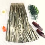 jupe plissée métallisée dorée la selection parisienne mode femme