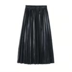 jupe plissée métallisée noire la selection parisienne mode femme 1