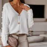 cardigan blanc mode femme automne 2020 la selection parisienne 5