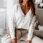 cardigan blanc mode femme automne 2020 la selection parisienne 6