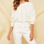 pull tricot blanc loose femme la selection parisienne en ligne 2