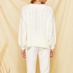 pull tricot blanc loose femme la selection parisienne en ligne 3