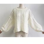 pull tricot blanc loose femme la selection parisienne en ligne 4