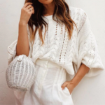 pull tricot blanc loose femme la selection parisienne en ligne