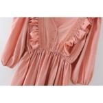 robe courte rose broderies volants femme la selection parisienne 1