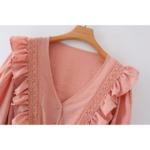 robe courte rose broderies volants femme la selection parisienne en ligne
