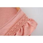 robe courte rose broderies volants femme la selection parisienne eshop mode